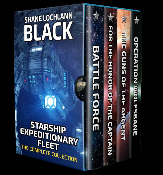 Starship Expeditionary Fleet by Shane Lochlann Black